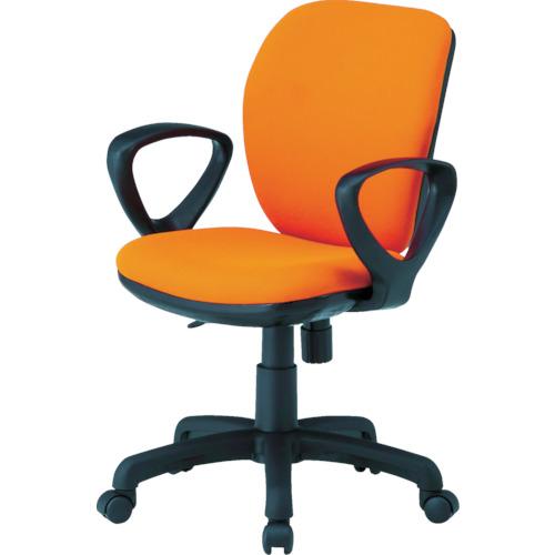 ■〒藤沢工業/TOKIO 椅子【FST-77A-OR】(8184961) TOKIO オフィスチェア ループ肘付 オレンジ 発注単位1