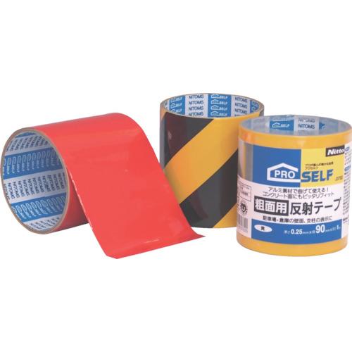 ■〒ニトムズ/ニトムズ テープ【J3782】(8364064)ニトムズ 粗面用反射テープ 黄 受注単位24