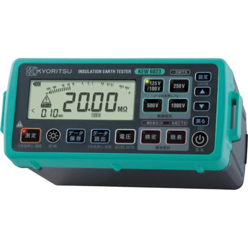 『カード対応OK!』■〒共立電気計器(株)/KYORITSU【KEW6023】(4796616)デジタル絶縁・接地抵抗計(メモリ機能付モデル) 受注単位1
