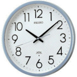 ■〒セイコークロック/SEIKO【KS265S】(8132946)電波掛時計 直径390×52 P枠 銀色半光沢 受注単位1