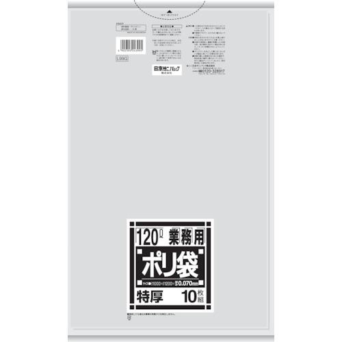 ■〒日本サニパック/サニパック【L99G】(8289310)L99G 厚くて丈夫なポリ袋 120L 受注単位10