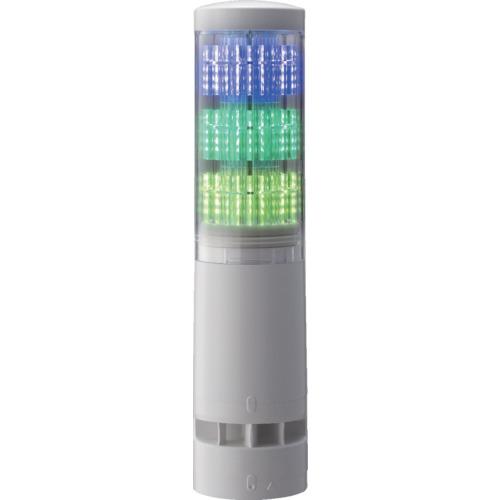 ■〒パトライト/パトライト【LA6-3DLJWB-RYG】(8358309)LA6型積層情報表示灯Φ60 L型ポール・キャブタイヤ・ブザーあり 受注単位1