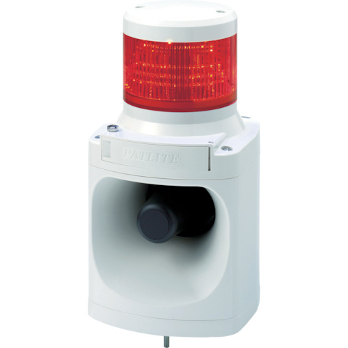 『カード対応OK!』■〒パトライト【LKEH120FAR】(7514646) LED積層信号灯付き電子音報知器 受注単位1