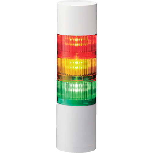 ■〒パトライト/パトライト【LR7-402WJNW-RYGB】(8358303)LR7型 積層信号灯 Φ70 直取付け 受注単位1