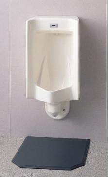 ###自動洗浄小便器 TOTO【UFS860CKS】非ジアテクト乾電池タイプ壁掛小便器(大形・塩ビ排水管用・アルカリ乾電池)