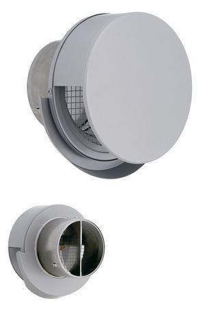 ■ユニックス【BSW175SCR3MDSP】ステンレス製 グリル 外風対策 丸型フラットカバー付 防火ダンパー付 72℃型式
