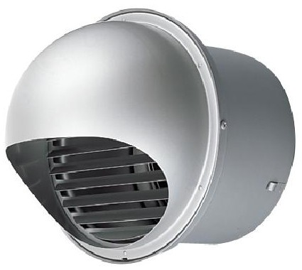 東芝 換気扇部材【DV-200SRD】 防火ダンパー付丸形パイプフード(ガラリ付) ステンレス製