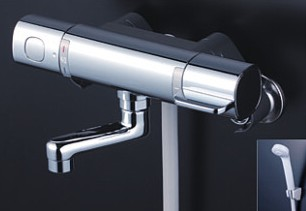 KVK 水栓金具【FTB100KR8T】浴室用水栓 サーモスタット式シャワー