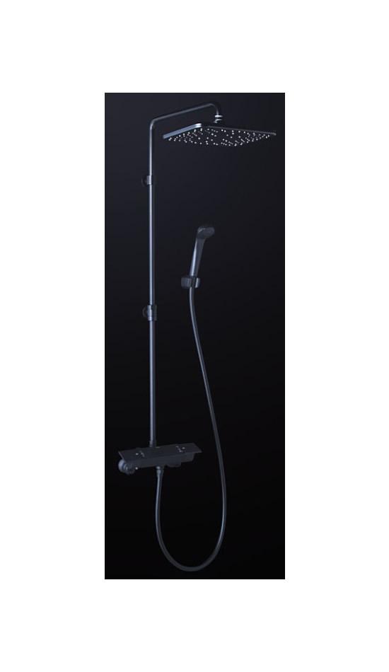 KVK 水栓金具【KF3060WMB】浴室用水栓 オーバーヘッドシャワー付サーモ ※寒冷地用