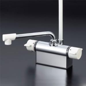 KVK水栓金具 【KF801】 デッキ形サーモスタット式シャワー(取付ピッチ100mm)