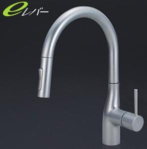 KVK キッチン【KM6061VECP】流し台用シングルレバー式シャワー付混合栓