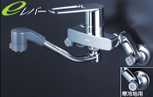 KVK キッチン【MSK110KZERFUT】シングルレバー式シャワー付混合栓 ※寒冷地用