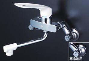 KVK キッチン【MSK110KLL】シングルレバー式混合栓