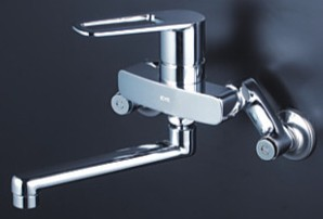 KVK 水栓金具【MSK110KWT】壁付シングルレバー式混合水栓