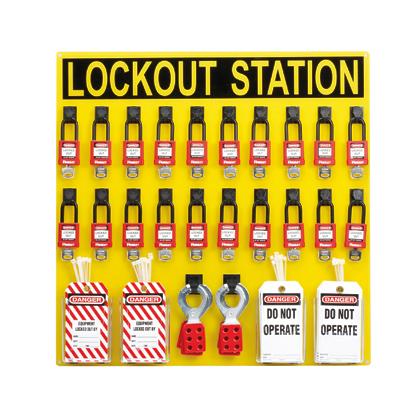 『カード対応OK!』■〒パンドウイットコーポレーション/パンドウイット 【PSL-20SWCA】(4747003)ロックアウトステーションキット 20人用 受注単位1