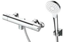 2019年4月発売予定 TOTO 浴室用水栓金具【TBV03412Z】GGシリーズ 壁付サーモスタット混合水栓(壁付き) コンフォートウェーブ 3モード めっき ※寒冷地用