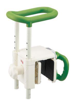 ###アロン化成 安寿【536-620】浴槽用手すり 高さ調節付浴槽手すり UST-130R グリーン