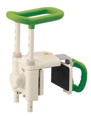 ###アロン化成 安寿【536-619】浴槽用手すり 高さ調節付浴槽手すり UST-200N グリーン