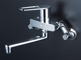 KVK 洗面化粧室【MSK110KZKCT】シングルレバー式混合栓 ※寒冷地用