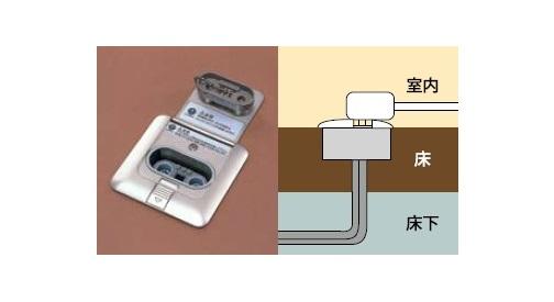 ###ψパロマ【DFC-WC-FDA】ファンコンベクター 温水コンセント床埋込みタイプ