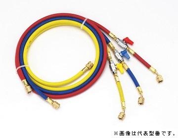 ЯイチネンTASCO/タスコ【TA132AA】バルブ付ホース 赤・青・黄