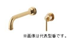 ≧三栄水栓/SANEI【K47450-S-NCU-13】シングル洗面混合栓(壁出) ブラス