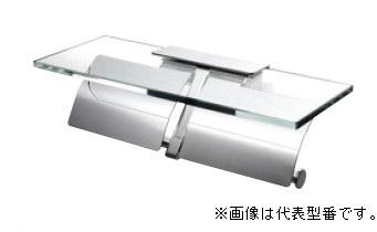 三栄水栓/SANEI【W2808】ダブルペーパーホルダー棚付