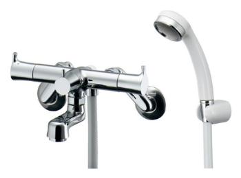 カクダイ【139-023】2ハンドルシャワー混合栓(一時止水)