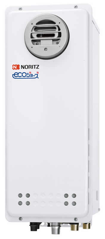 ###♪ノーリツ ガス給湯器【GQ-C1638WXS BL】オートストップ 給湯専用 屋外壁掛形(PS標準設置形) エコジョーズ 戸建・マンション向け ユコアGQ-WXS 16号