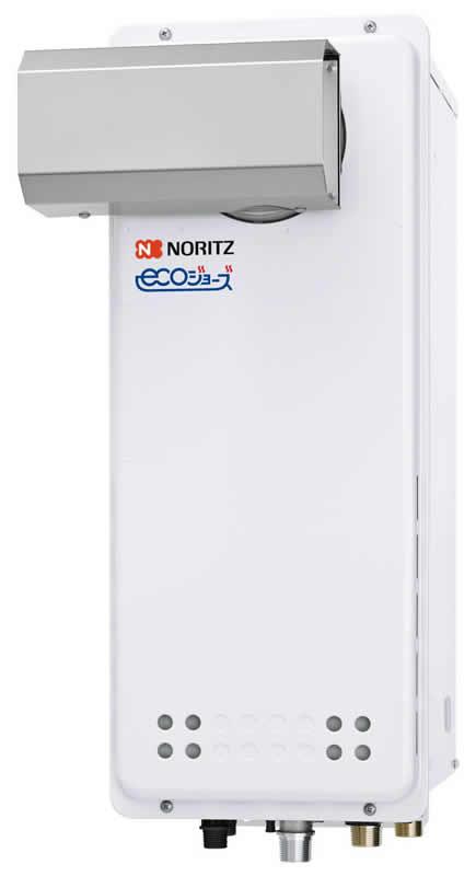 ###♪ノーリツ ガス給湯器【GQ-C2038WXS-L BL】オートストップ 給湯専用 PSアルコーブ設置形 エコジョーズ 戸建・マンション向け ユコアGQ-WXS 20号