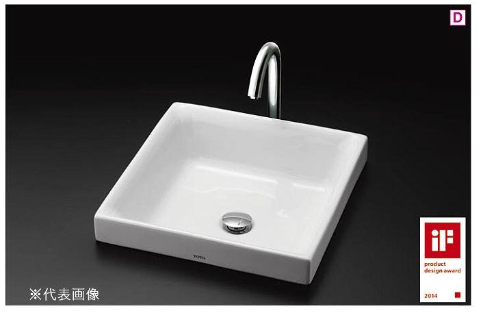 ###TOTO カウンター式洗面器 セット品番【LS715 #NW1+TENA12AL】ホワイト 角形洗面器 ベッセル式 台付自動水栓(単水栓) 壁排水金具(Pトラップ)
