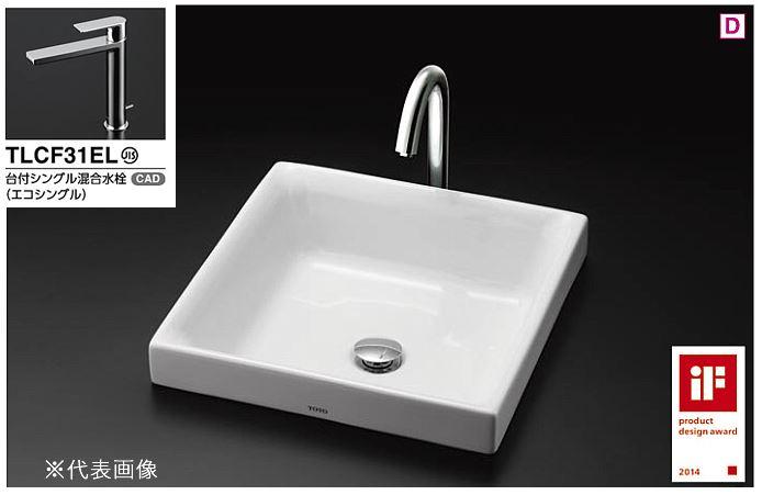 ###TOTO カウンター式洗面器 セット品番【LS715 #NW1+TLCF31ELR ベッセル式】ホワイト 角形洗面器 角形洗面器 ベッセル式 ###TOTO 台付シングル混合水栓(エコシングル) 床排水金具(Sトラップ), SHOP GEN:84d99883 --- sunward.msk.ru