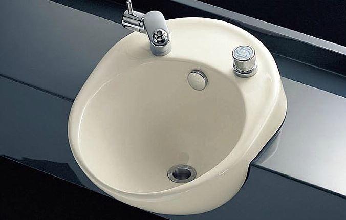 ###TOTO 歯みがき器(歯みがき用ボウル) セット品番【L595+TL595AR】セルフリミング式 立水栓 床排水金具(Sトラップ)セット