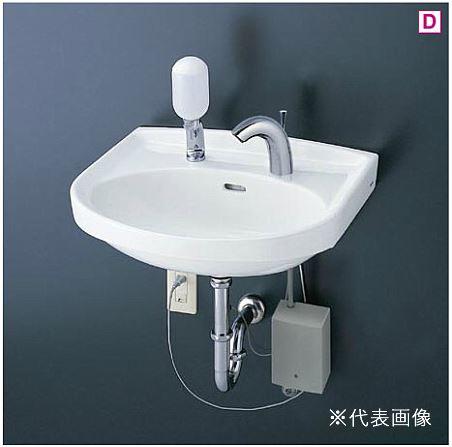 ###TOTO 壁掛洗面器 セット品番【L250CM+TENA41A】台付自動水栓(単水栓) 壁排水金具(Pトラップ)