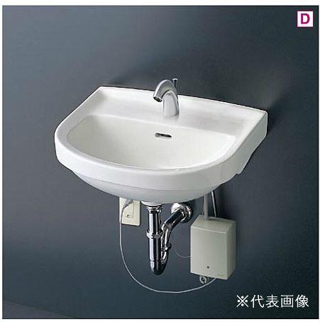 ###TOTO 壁掛洗面器 セット品番【L210C+TENA41A】台付自動水栓(単水栓) 壁排水金具(Pトラップ)