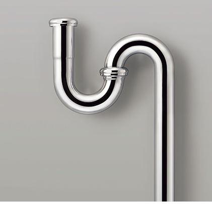 CERA/セラ 洗面・手洗器関連パーツ【CER1202】Sトラップ クロム