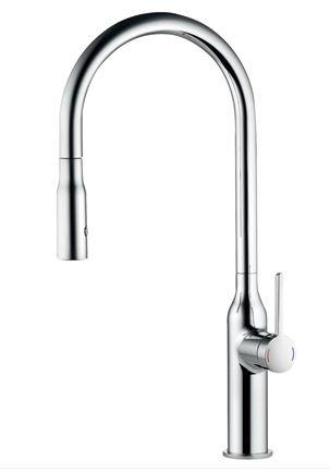 CERA/セラ【KW0261002R】キッチン用湯水混合栓(スパウト引出しタイプ) クロム シン