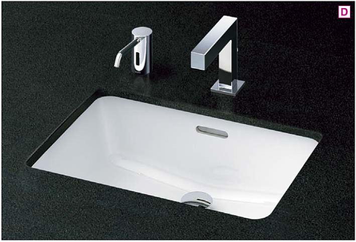 ###TOTO カウンター式洗面器 セット品番【L505+TENA12E】アンダーカウンター式 台付自動水栓(単水栓) 壁排水金具(Pトラップ)
