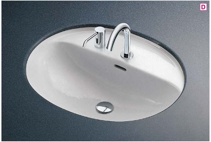 ###TOTO カウンター式洗面器 セット品番【L582CMS+TENA12A】アンダーカウンター式 台付自動水栓(単水栓) 床排水金具(Sトラップ)