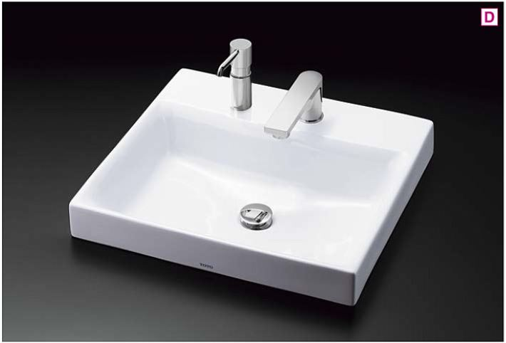 ###TOTO カウンター式洗面器 セット品番【LS717CM#NW1+TENA12F】ベッセル式 ホワイト 台付自動水栓(単水栓・AC100V) 壁排水金具(Pトラップ)