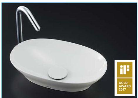 ###TOTO カウンター式手洗器 セット品番【LS901#NW1+TENA12BL】ベッセル式 ホワイト 台付自動水栓(単水栓) 壁排水金具(Pトラップ)