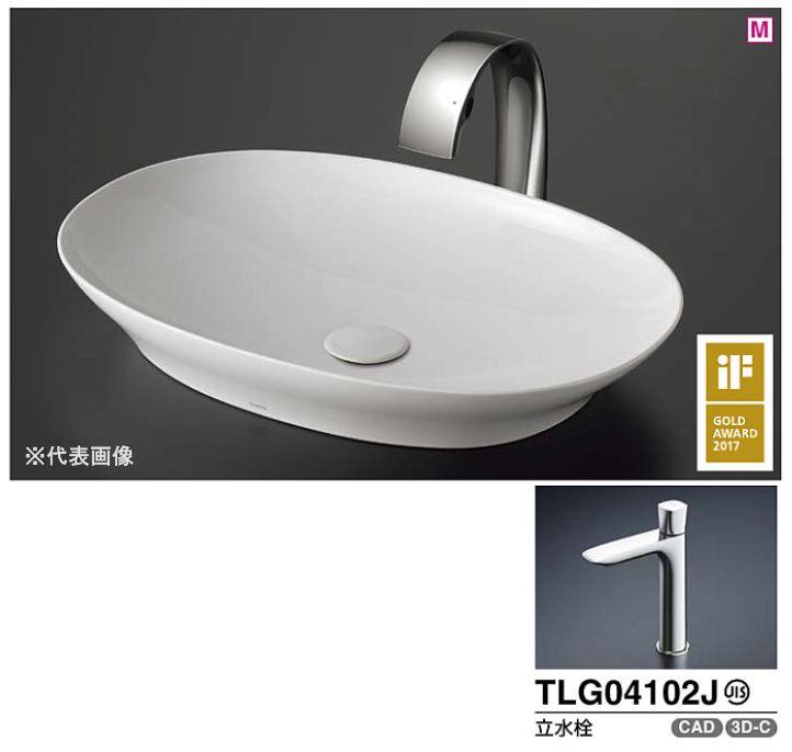 ###TOTO カウンター式洗面器 セット品番【LS902#NW1+TLG04102J】ベッセル式 ホワイト 立水栓 床排水金具(Sトラップ)