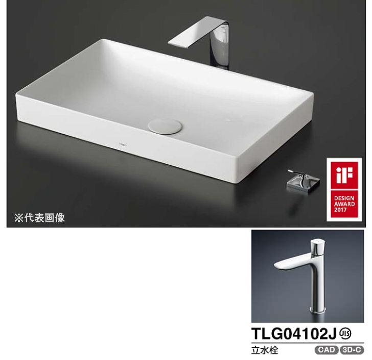 ###TOTO カウンター式洗面器 セット品番【LS916#NW1+TLG04102J】ベッセル式 ホワイト 立水栓 壁排水金具(Pトラップ)