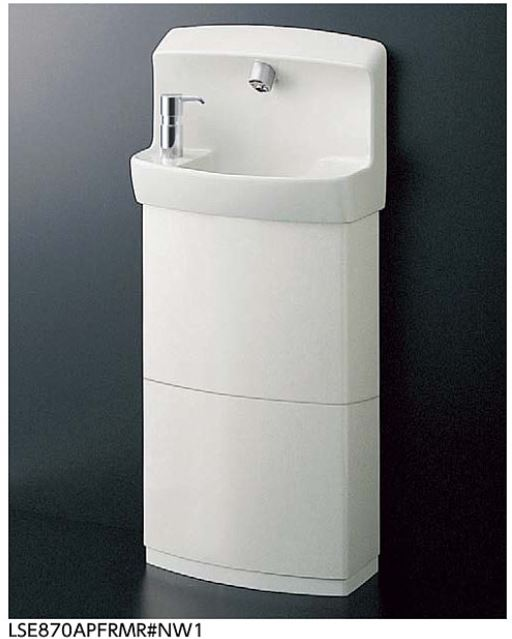 ###TOTO コンパクト手洗器 セット品番【LSE870ASFRMR】壁掛手洗器セット一式(手洗器・自動水栓セット金具一式(水石けん入れ、トラップカバー付)) Sトラップ
