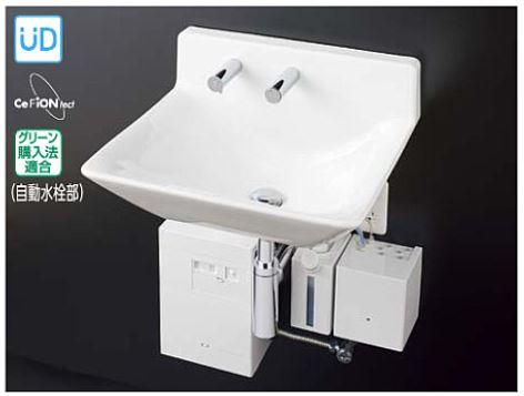 ###TOTO セット品番【LSF135CC】壁掛ハイバック洗面器セット一式 自動水栓一体形電気温水器・自動水石けん供給栓セット 壁排水金具