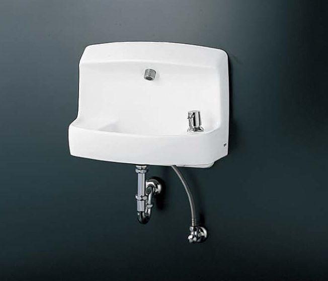 ###TOTO コンパクト手洗器 セット品番【LSL870APR】壁掛手洗器セット一式(手洗器・ハンドル式単水栓セット) Pトラップ
