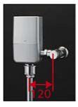 ###TOTO 大便器自動洗浄システム【TEVN20E】オートクリーンC(露出タイプ) ウォシュレット連動タイプ 壁給水 再生水用 受注約3週