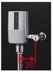 ###TOTO 大便器自動洗浄システム【TEVN40UH】オートクリーンC(露出タイプ) コンビネーションタイプ AC100V 人体感知センサー付 壁給水 再生水用 受注約3週