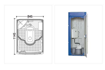 ###u.ハマネツ【TU-iXJH】屋外トイレユニット TU-iXシリーズ 水洗タイプ 兼用和式便器 受注約1ヵ月