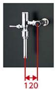 TOTO フラッシュバルブ【TV585P】低水圧用 壁給水 水道水対応